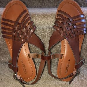 Brown Indigo Rd (Target) Weave Design Sandals